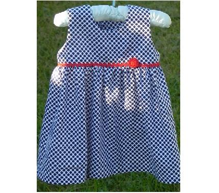 Free Pattern Classic Sleeveless Baby Dress Sewing