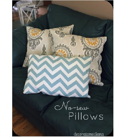Throw Pillow Sewing Instructions : Tutorial: No-sew pillow throw covers ? Sewing