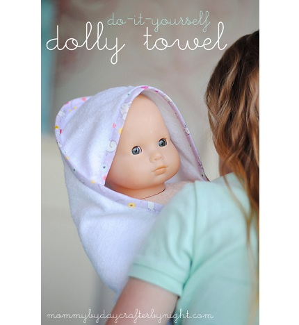 Tutorial: Hooded bath towel for dolly – Sewing