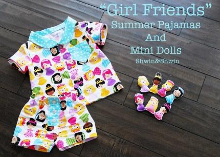 Free pattern: Best Friends Summer Pajamas for little kids