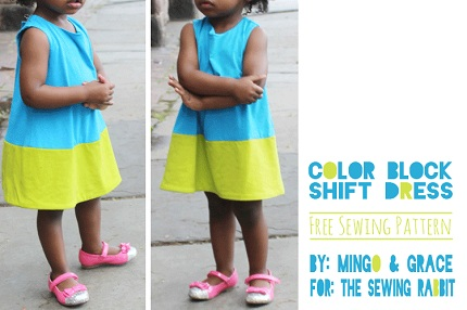 Free Pattern Mod Toddler Color Blocked Shift Dress Sewing