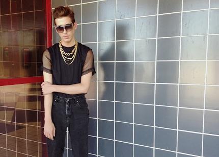 Daniel Parker Studs and Buttonholes Sheer shirt