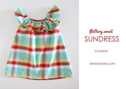 Tutorial: Flounce neck sundress for baby girls
