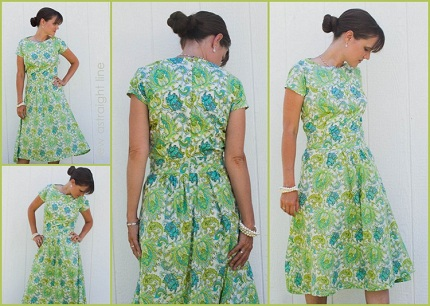 Lookie What She Made Summer Sundress From A Wedding Dress Pattern