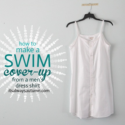 Tutorial Make A Swimsuit Cover Up From A Man S Button Up