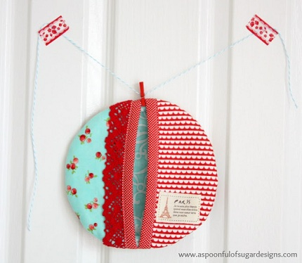 Tutorial Round Pocket Pot Holder Sewing