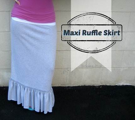 Tutorial: Ruffle hem maxi skirt