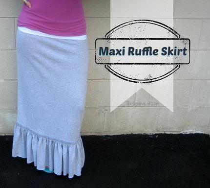 Tutorial Ruffle Hem Maxi Skirt Sewing