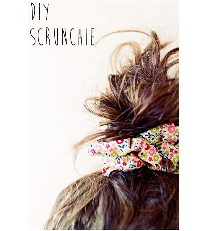 how to make a hair scrunchie sewing