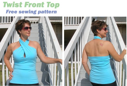 Free pattern: Twist front halter top – Sewing