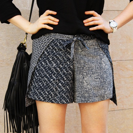 Tutorial: Wrap shorts made from a scarf – Sewing