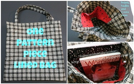 1 Pattern piece lined bag