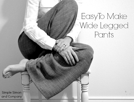 Tutorial: Wide legged dress pants using a pajama pants pattern ...