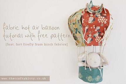 Free pattern: Fabric hot air balloon