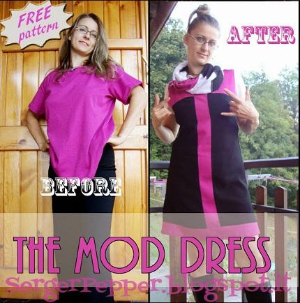 Free pattern: Mod shift dress