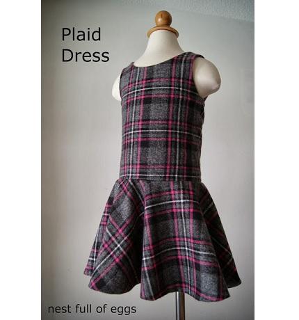 Free pattern: Little girl's drop waist dress
