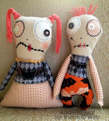 Tutorial: Boy and girl zombie softie dolls