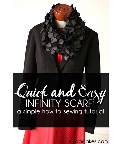 Tutorial: Quick and easy infinity scarf