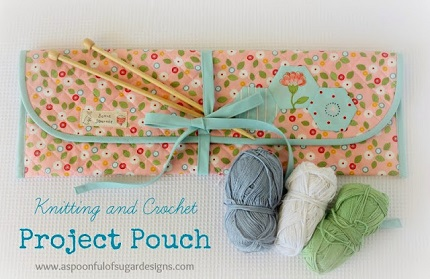 Tutorial: Knitting and crochet project pouch