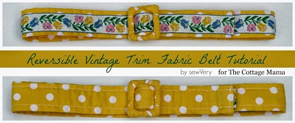 Tutorial: Reversible vintage trim belt