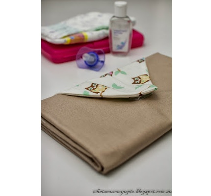 Tutorial: Baby changing mat clutch