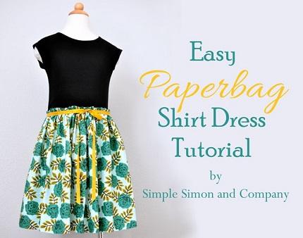 Tutorial Easy Paperbag Shirt Dress Sewing