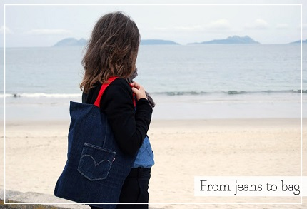 Tutorial: Upcycled jeans tote bag