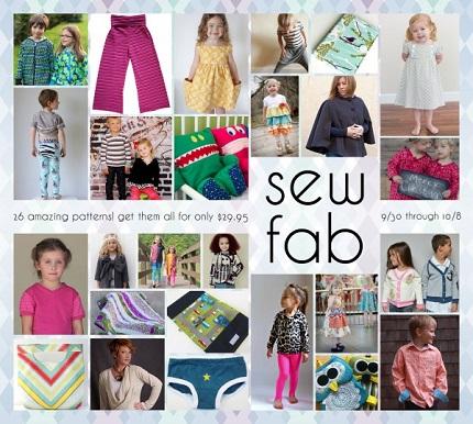 SewFab limited time pattern bundle