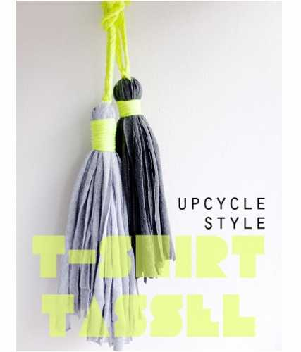 Tutorial: Upcycled t-shirt tassels