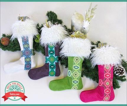 Tutorial: Nordic faux fur Christmas stocking