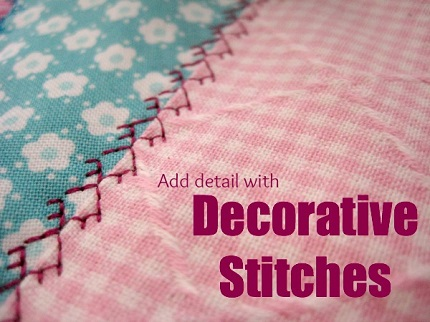 Heather's tips for decorative machine stitching