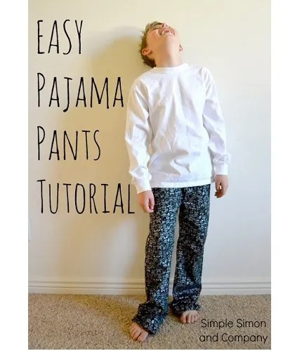 Tutorial Use Kid's Jeans To Make A Pajama Pants Pattern Sewing Stunning Pajama Pants Pattern