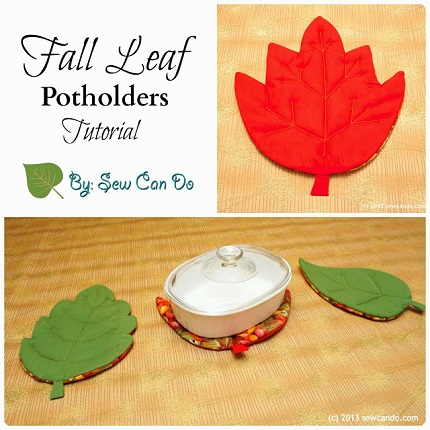 Tutorial: Double function leaf shaped pot holders and hot pads