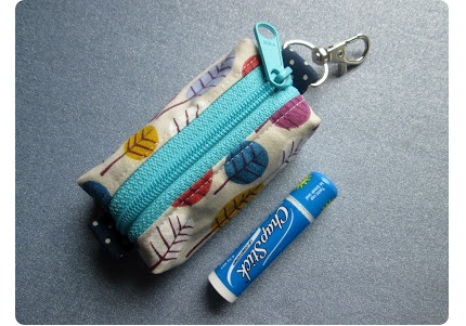 Tutorial: Zippered key fob pouch