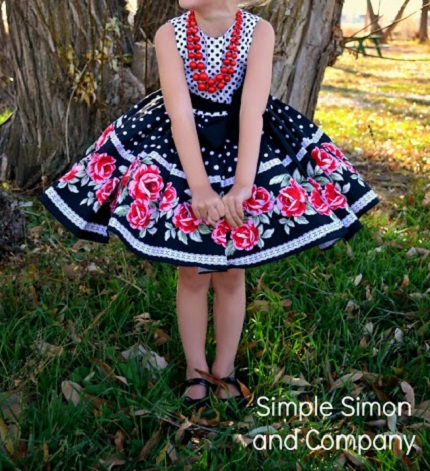 Idea file: Little girl dress refashion with a border print