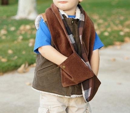Tutorial: Kid's pocket scarf