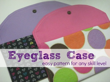 Tutorial: Easy eyeglass or sunglass case