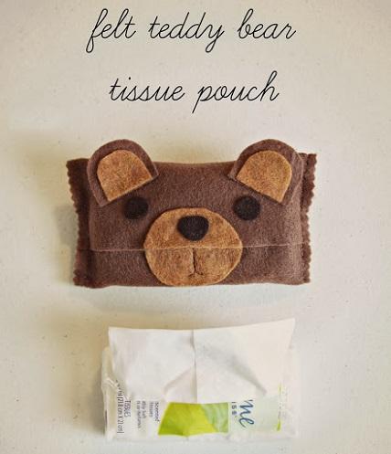 tutorial felt teddy bear tissue pouch � sewing