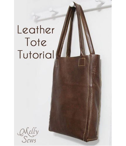 Tutorial: Simple leather tote