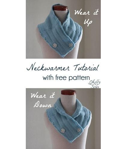 Free pattern: Felted wool neckwarmer you can wear two ways
