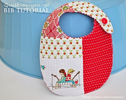 Tutorial: Quilt-as-you-go patchwork baby bib