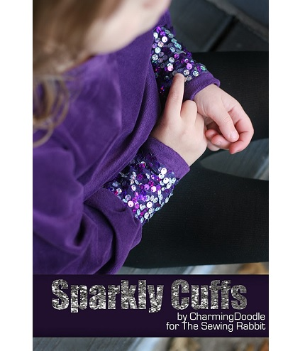 Tutorial: Sparkle cuffs for a top