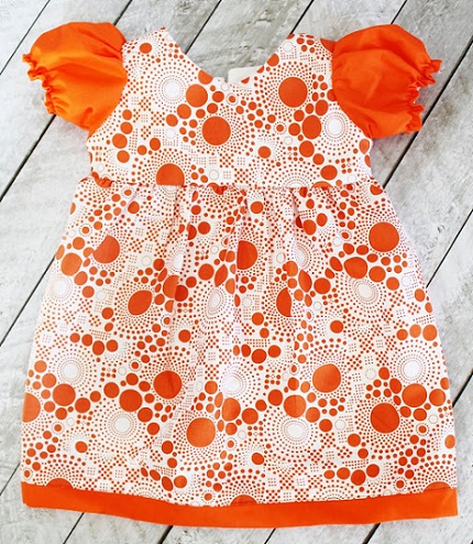 Free pattern: Puff sleeve dress for toddler girls – Sewing