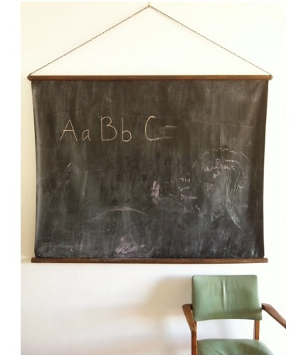 Tutorial: Vintage-inspired hanging chalkboard, no sewing required