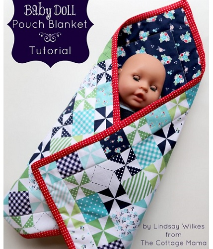 Tutorial Baby Doll Pouch Blanket Sewing