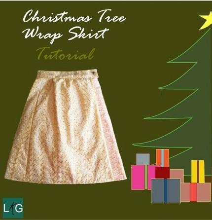 Tutorial: Christmas Tree Wrap Skirt