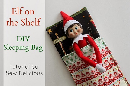 Free Knitting Patterns For Elf On The Shelf Clothes : Tutorial: Sleeping bag for your Elf on the Shelf   Sewing