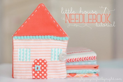 Tutorial: Little felt house needle book