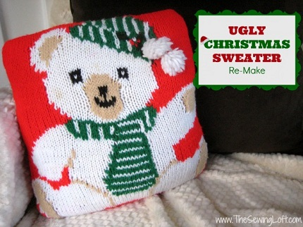 Tutorial: Ugly Christmas sweater throw pillow