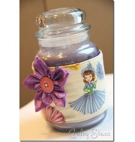 Tutorial: Candle jar wrap